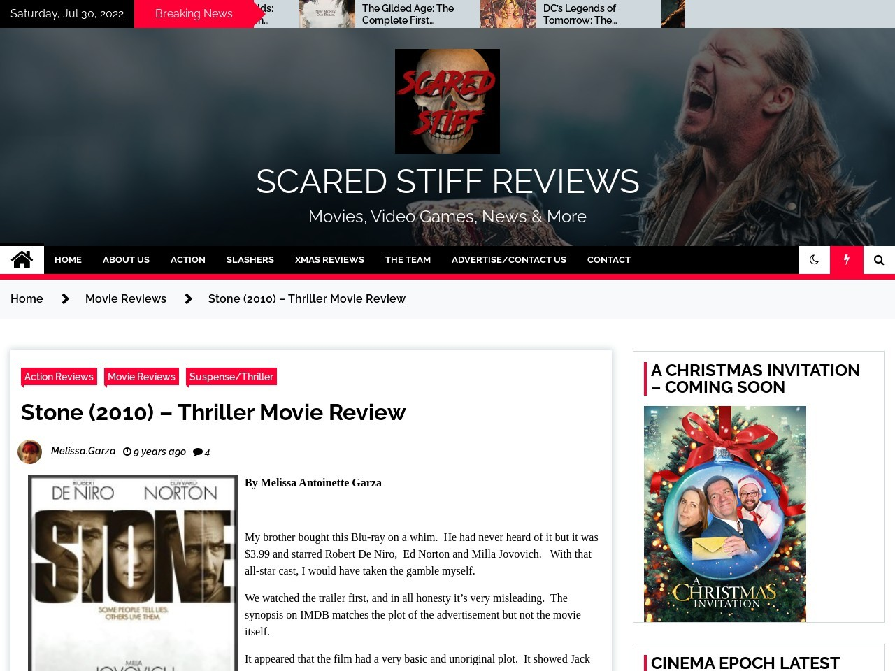 Scared Stiff Reviews » Stone (2010) – Thriller Movie Review