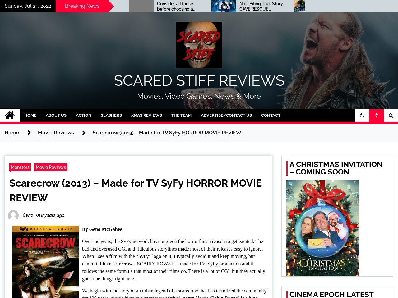 Scarecrow (2013) – Made for TV SyFy HORROR MOVIE REVIEW