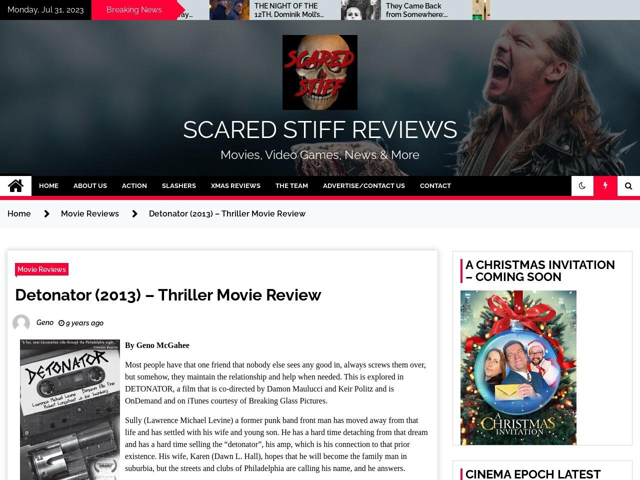 Scared Stiff Reviews » Detonator (2013) – Thriller Movie Review