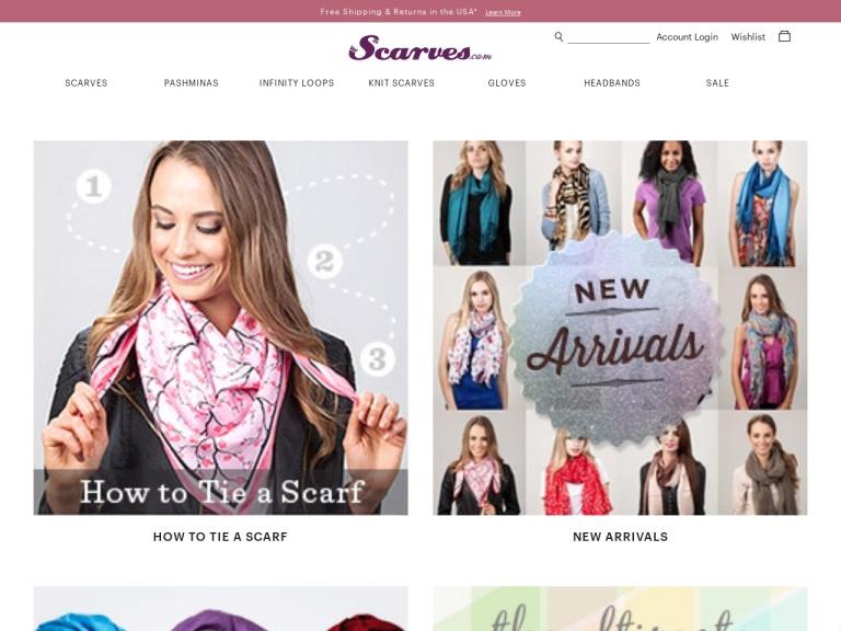 Scarves.com screenshot