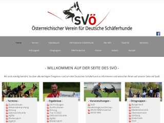 Screenshot der Website schaeferhund.at