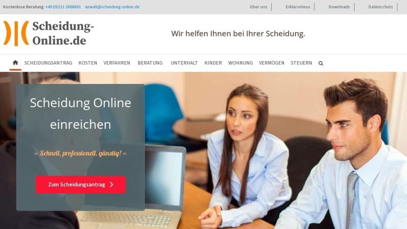 www.scheidung-online.de Vorschau, Rechtsanwalt Roland Sperling