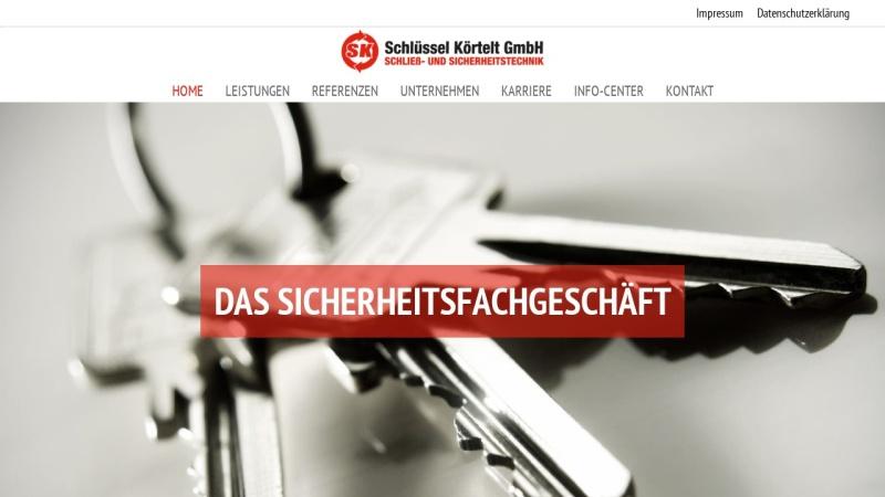 www.schluessel-koertelt.de Vorschau, Sicherheitsfachgeschäft Schlüssel-Körtelt