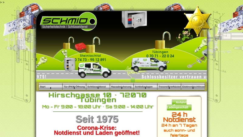 www.schluessel-schmid.de Vorschau, Schlüsseldienst Schmid Inh. F. Stiller