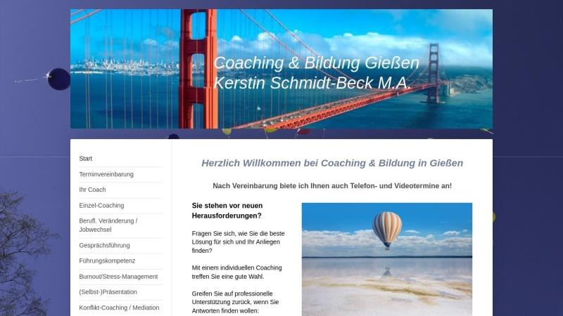 www.schmidt-beck.de Vorschau, Coaching und Bildung in Giessen