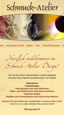 Vorschau der mobilen Webseite www.schmuckdesign-saar.de, Schmuck-Art: Schmuckdesign, Silber- & Goldschmuck, Edelsteine & Perlen