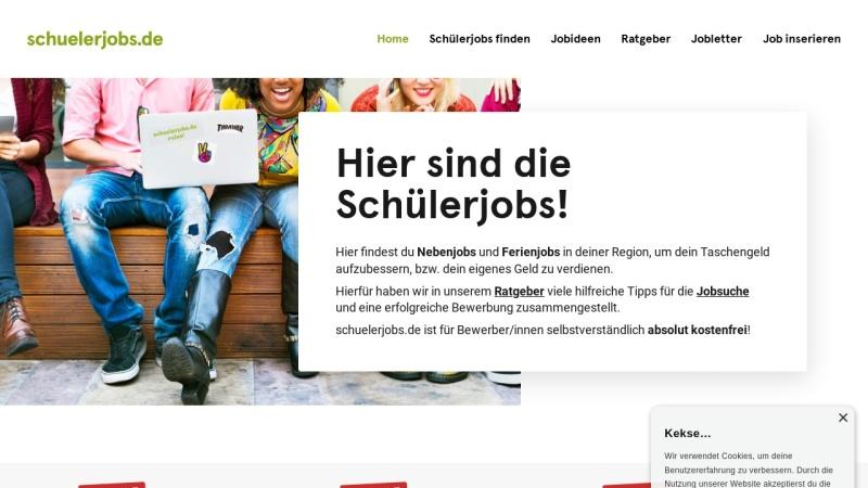 www.schuelerjobs.de Vorschau, schuelerjobs.de | Jobs für Schüler und Studenten