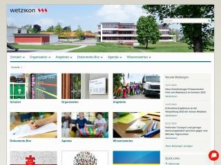 Screenshot der Website schule-wetzikon.ch
