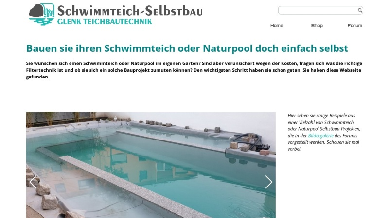 www.schwimmteich-selbstbau.de Vorschau, Ralf Glenks Schwimmteich