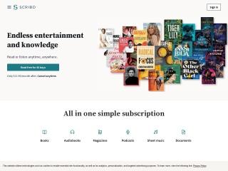 Screenshot for scribd.com