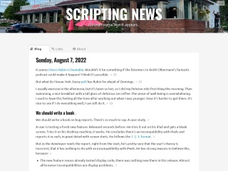 Screenshot for scripting.com