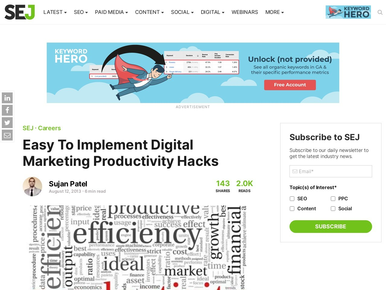 Easy To Implement Digital Marketing Productivity Hacks | Search …