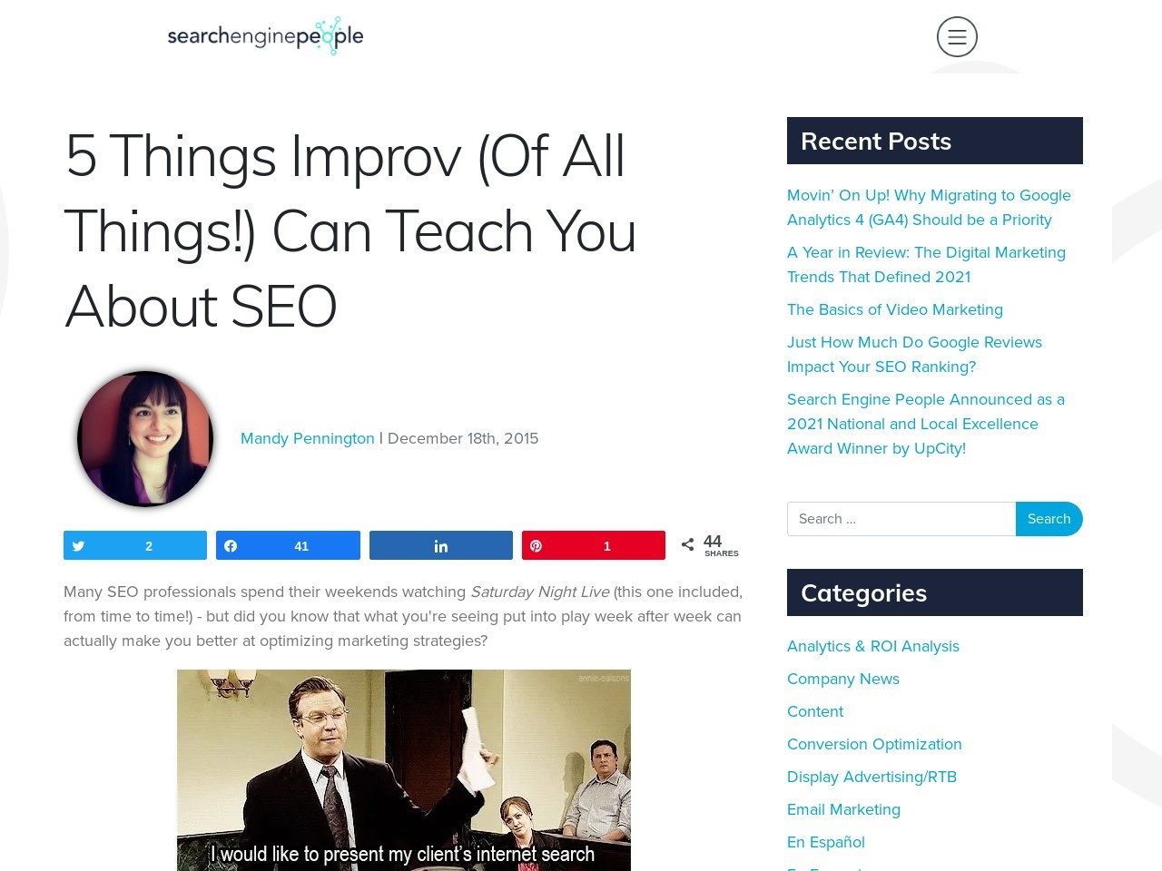 5 Things Improv (Of All Things!) Can Teach You About SEO