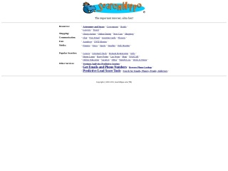 Знімок екрану для searchhippo.com