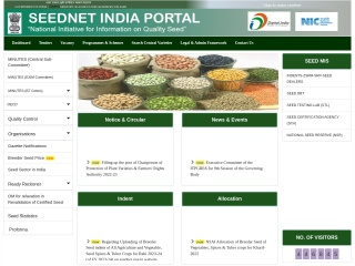 Screenshot for seednet.gov.in