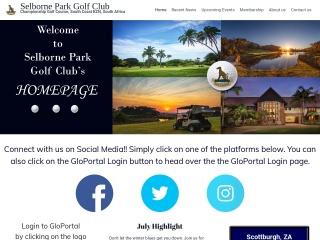 Screenshot for selbornegolf.co.za