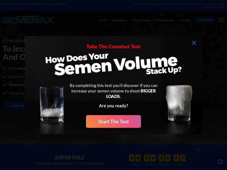 Semenax screenshot