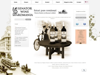 Screenshot al site-ului senatorwine.ro
