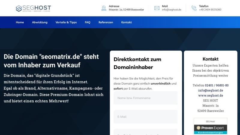 www.seomatrix.de Vorschau, Seo Matrix Ltd. & Co. KG