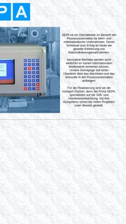 Vorschau der mobilen Webseite www.sepa-computer.de, SEPA Computersysteme GmbH