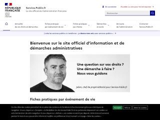 Capture d'écran pour service-public.fr
