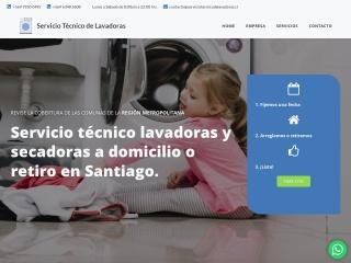 Captura de pantalla para serviciotecnicodelavadoras.cl