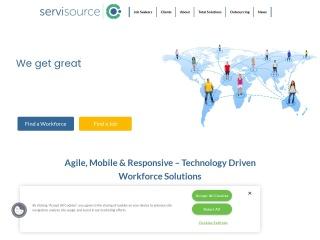 Screenshot for servisource.ie