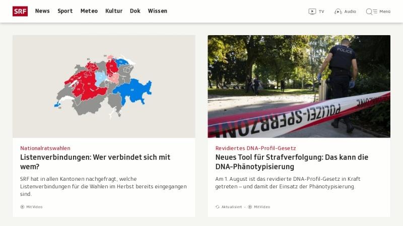 www.sf.tv Vorschau, Schweizer Fernsehen