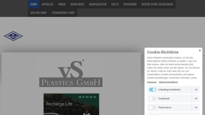www.sfbaumberg.de Vorschau, Sportfreunde Baumberg