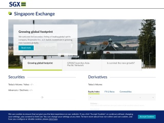 Screenshot for sgx.com