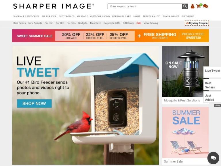 Sharper Image screenshot