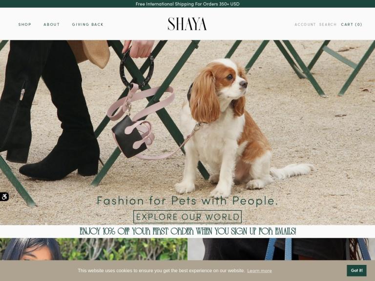 Shaya-30% off sitewide