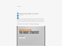 Strategizing Web Content: The Right Strategy for Writing for the Web