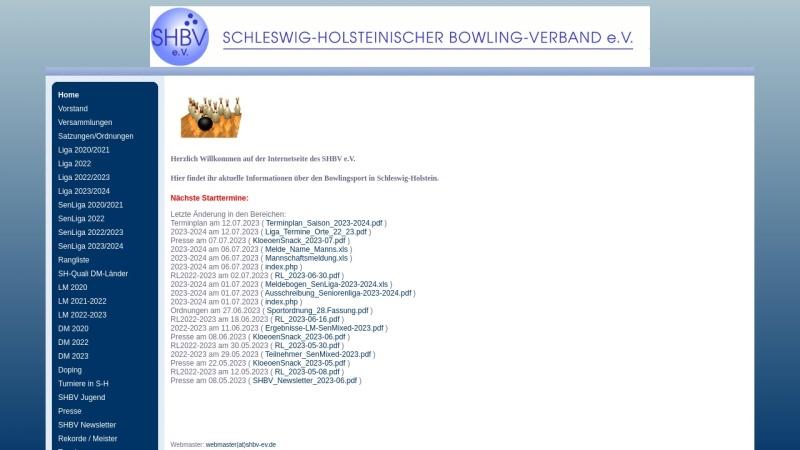 www.shbv-ev.de Vorschau, Schleswig-Holsteinischer Bowling-Verband e.V.