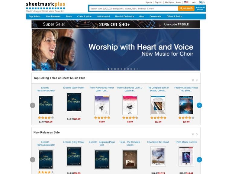 Sheet Music Plus screenshot