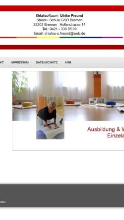 Vorschau der mobilen Webseite www.shiatsu-bremen.de, Shiatsu Ausbildung für Frauen