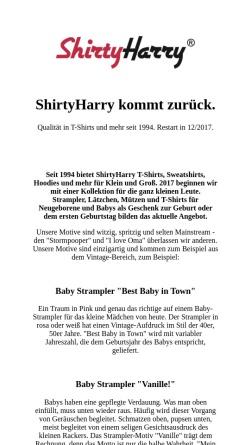 Vorschau der mobilen Webseite www.shirtyharry.de, ShirtyHarry, Werner Radisch