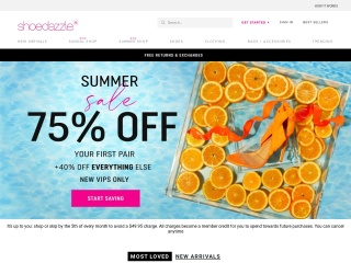 Screenshot for shoedazzle.com