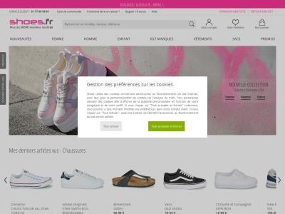 Shoes.fr : vente en ligne de chaussures