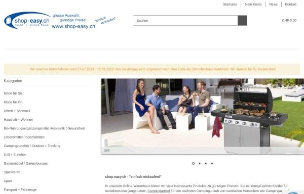 Vorschau von www.shop-easy.ch, Handel + Vertrieb Rauber