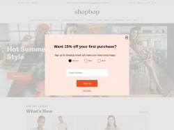 Shopbop screenshot