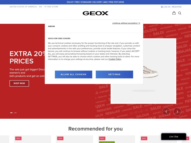 Geox Shoes Us screenshot