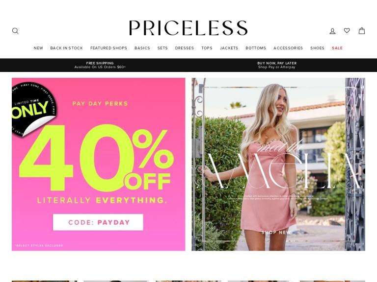Shop Priceless screenshot