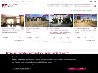 screenshot siena-immobiliare.it