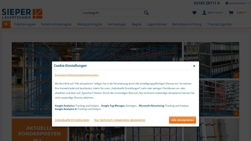 www.sieper-lagertechnik.com Vorschau, Regalsysteme für jedes Lager - Sieper fertigt individuelle Lösungen