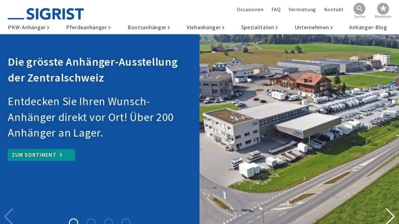 www.sigrist-anhaenger.ch Vorschau, Sigrist Anhänger