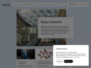 Screenshot der Website sihlcity.ch