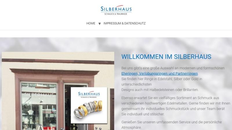 www.silberhaus.de Vorschau, Silberhaus - Feiner Silberschmuck