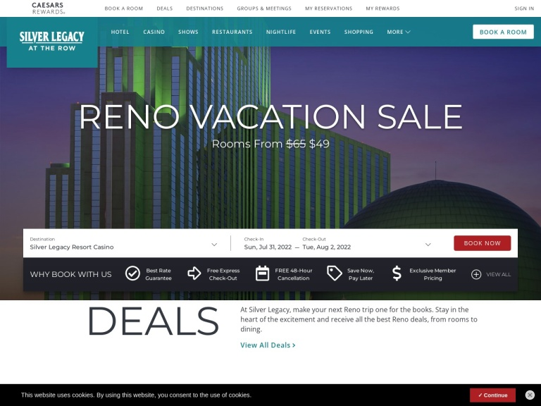 Silver Legacy Resort Casino Coupon Codes