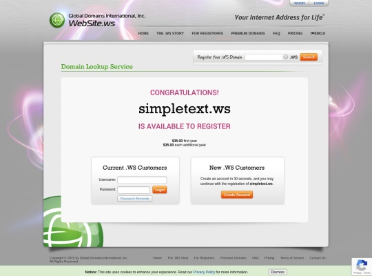 SimpleText.ws — Your writing synced online